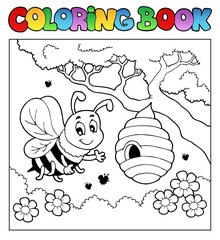 Coloring book bugs theme image 4