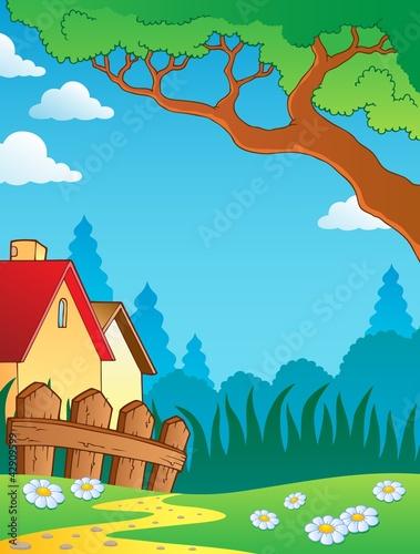 Spring theme landscape 3