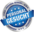 """Button Banner """"Personal gesucht"""" blau/silber"""