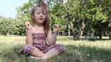 little girl yoga meditation