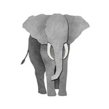 Papercut Elephant Recycled Paper poster