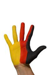 bemalte Hand, Deutschland