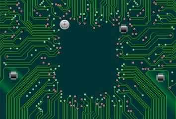 Circuito Elettronico Scheda Computer Motherboard Circuit-Vector