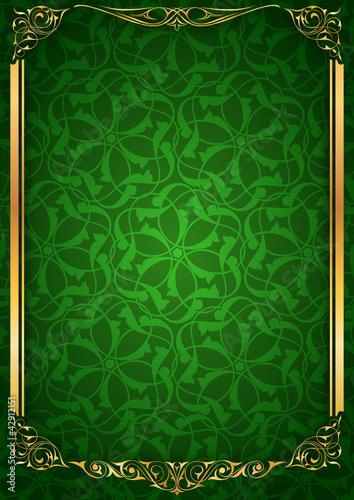 Ayna sütun yeşil parlak fonda