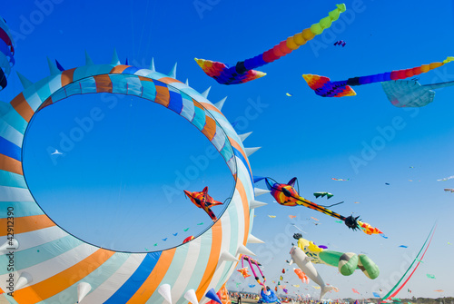 kite in the blue sky