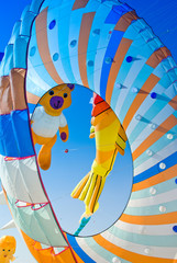 kite in the blue sky