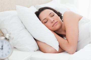 Woman in a peaceful sleep