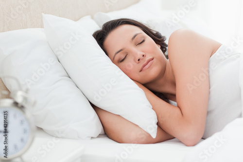 Woman in a peaceful sleep