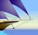 Sailboat, vector illustration