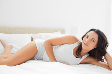 Close-up of a sensual woman in a bed
