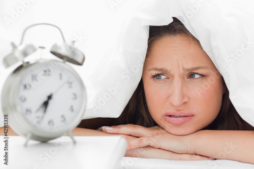 Woman who doesn't want to wake up