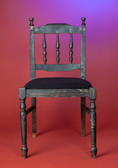 old-fashioned dark wood chair