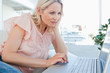 Blonde on a laptop