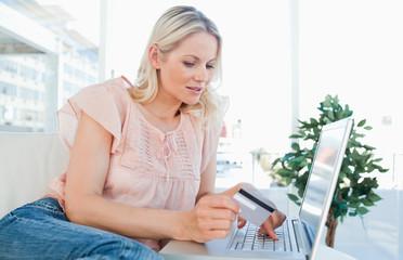 Blonde buying online