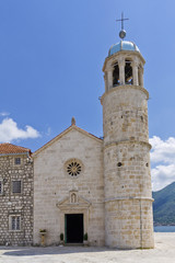 Our Lady of the Rock island and Church, in Kotor bay