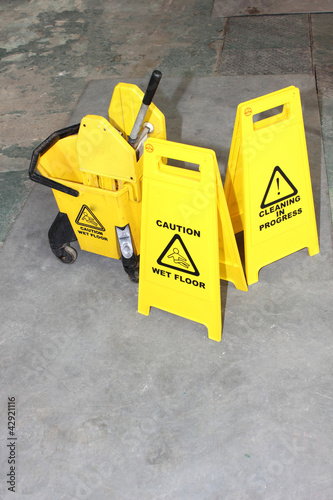 Industrial Cleaning signs