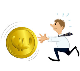 Man Catching a Big Coin