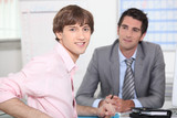 Young man at a job interview