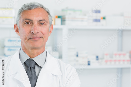 Portrait of a pharmacist standing in a pharmacy