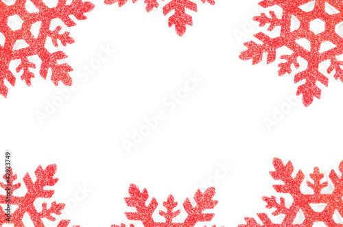 Christmas tree decoration star isolated on white background