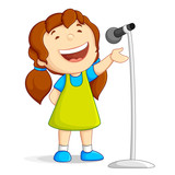 Fototapety Singing Girl