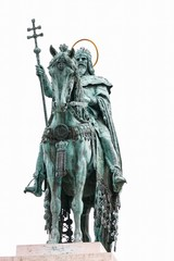 the statue of king on horse, Budapest, Hungary,
