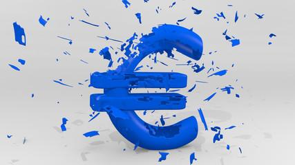Euro Pleite blau
