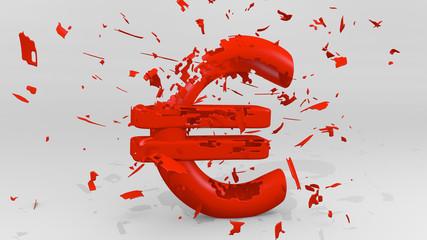 Euro Pleite rot