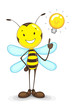 Bee with Idea Bulb