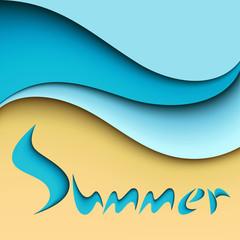 Summer sea background