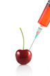 Injecting a fluid into an cherry