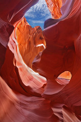 Graceful arches in magic Antelope Canyon