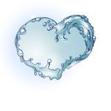Water splash heart