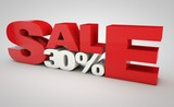 sale - price reduction of 30%.