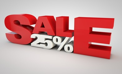 sale - price reduction of 25%.