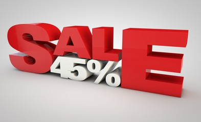 sale - price reduction of 45%.