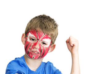 Boy with painted face