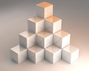 3D cubes one