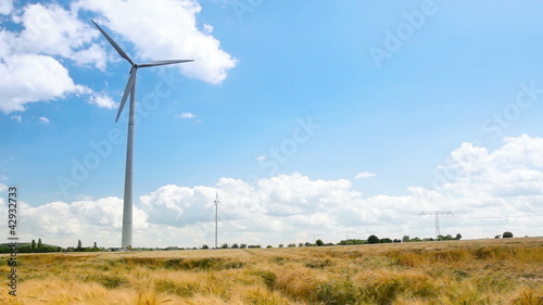 Windenergy on a Cerial Field