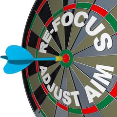 Refocus Adjust Aim Dartboard Improve Success
