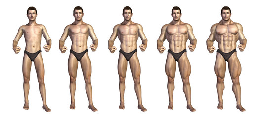 Bodybuilder's Step-by-Step Transformation