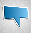 Social media speech bubble over texture