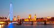 Leinwanddruck Bild - London Eye Panorama
