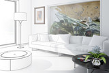 White Room with Artwork - draw - 42935934