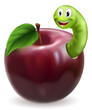 Cute caterpillar apple