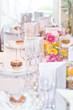 Festlich gedeckter Tisch zur Goldhochzeit