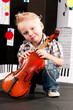 boy with a violin