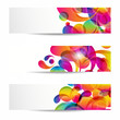 Abstract web banners withcolorful arc-drop for your www design