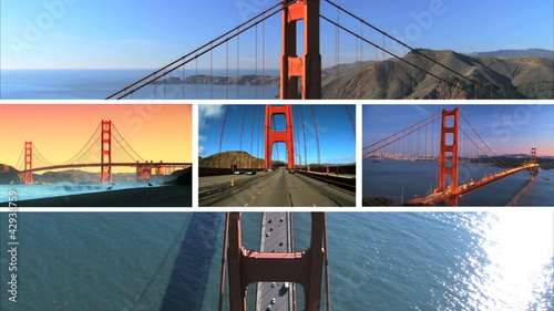 Multiple Images Golden Gate Bridge, San Francisco