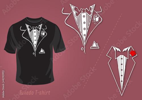 Tuxedo t-shirt vector design - 42939112